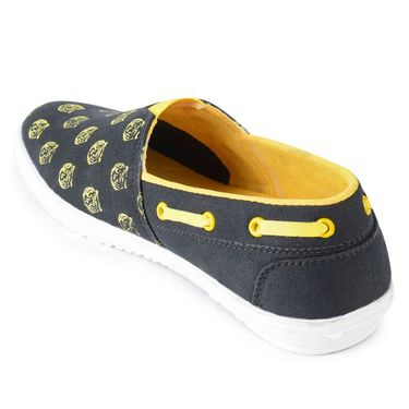 Foot n Style Canvas Black & Yellow Casual Shoes -fs3129
