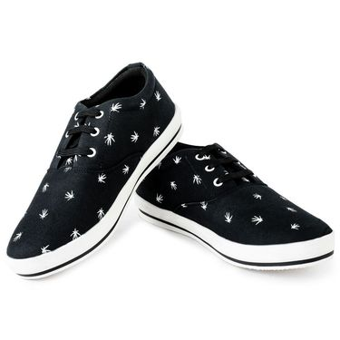 Foot n Style Canvas Black Casual Shoes -fs3130
