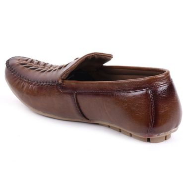 Foot n Style Brown Loafers Shoes -Fs3155