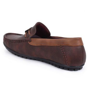 Foot n Style Drk Brown Loafers Shoes -Fs3158