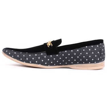 Foot n Style Black Loafers Shoes -Fs3162
