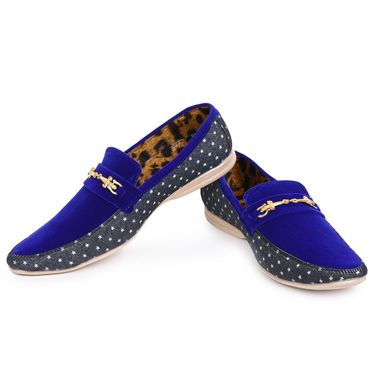 Foot n Style Blue Loafers Shoes -Fs3165