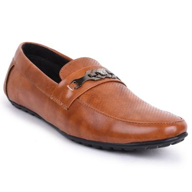 Foot n Style Brown Loafers Shoes -Fs3166