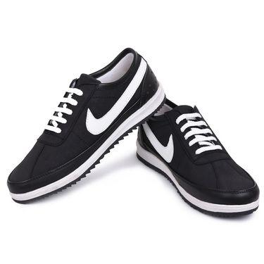 Foot n Style Black & White Sneaker Shoes -Fs3173