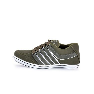 Foot n Style Canvas Casual Shoes FS 364 -Olive