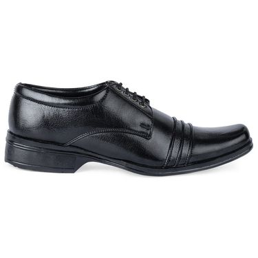 Foot n Style Leather Formal Shoes FS 388 -Black
