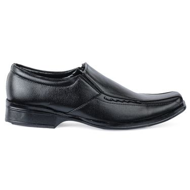 Foot n Style Leather Formal Shoes FS 390 -Black
