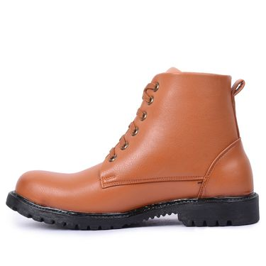 Foot n Style Leather Tan Boots -Fs4020