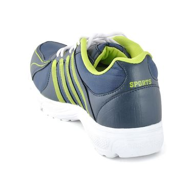 Foot n Style Synthetic Leather Sports Shoes FS 488 -Grey & Yellow