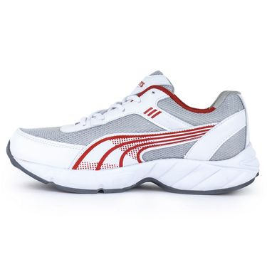 Foot n Style Synthetic Leather Sports Shoes FS 530 -White & Red