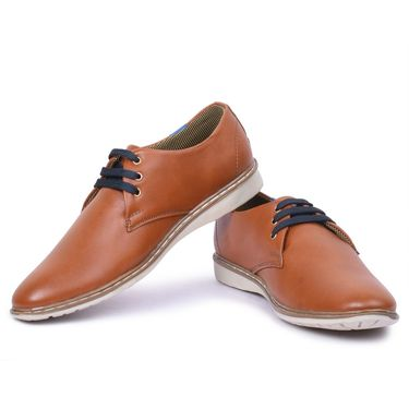 Foot n Style Faux Leather Tan Casual Shoes -Fs8001