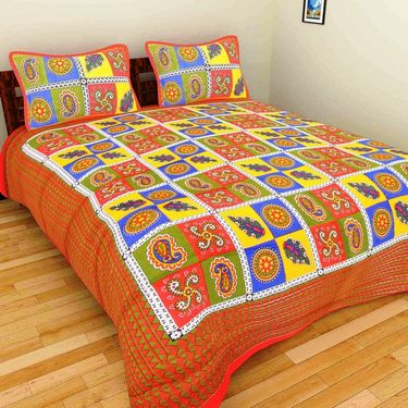 Set of 10 Double BedSheets With 20 Pillow Covers-grj-db-10-2