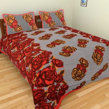 Set of 10 Double BedSheets With 20 Pillow Covers-grj-db-10-8
