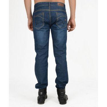 Hollister Plain Casual Cotton Jeans For Men_hldenimdb - Dark Blue