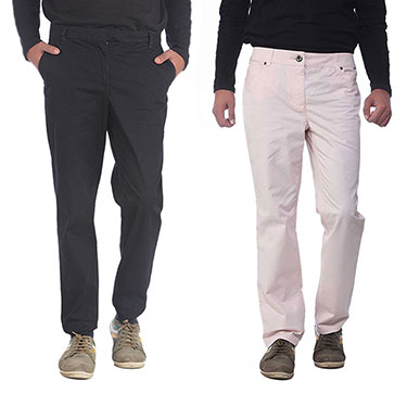 Pack of 2 imFab Plain Cotton Chinos_CHN_BS001