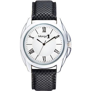 Mango People Analog Round Dial Watch For Men_mp011 - White
