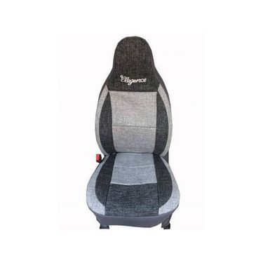 Car Seat Cover For Toyota Innova-Black & Grey - CAR_11029
