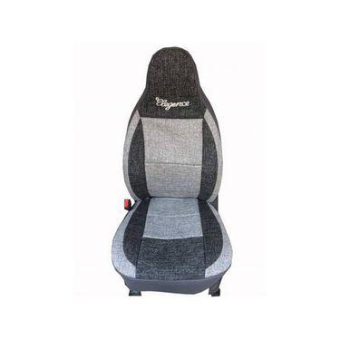 Car Seat Cover For Mahindra Logan-Black & Grey - CAR_11021