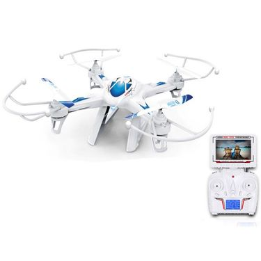 X8 Big Quadcopter with FPV Real Time Video Transmission - White & Blue