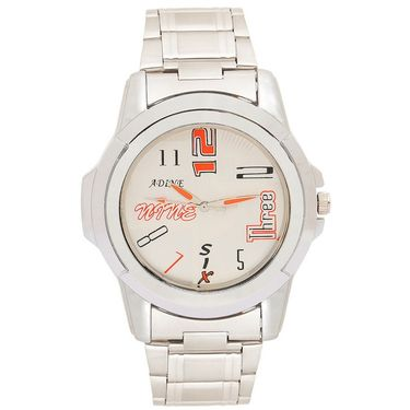 Adine Analog Wrist Watch For Men_Ad52002s - Silver