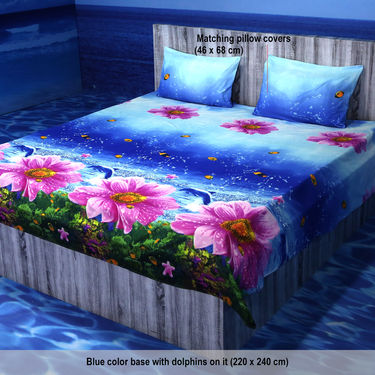 Satrangi Pack of 5 - 3D Bedsheets (5BS17)