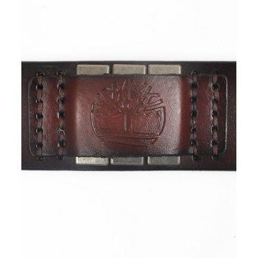 Branded Casual Leather Belt For Men_tm_db_003 - Dark Brown
