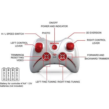 2.4G Gyro 4CH RC Quadcopter with HD CAM X11C - Red