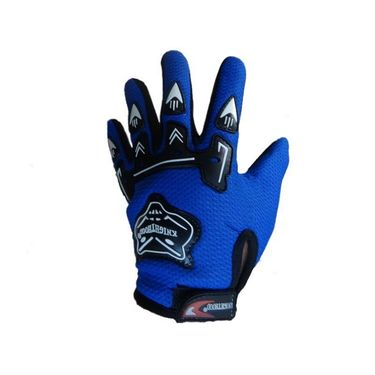 Knighthood Bikers Gloves Blue Color