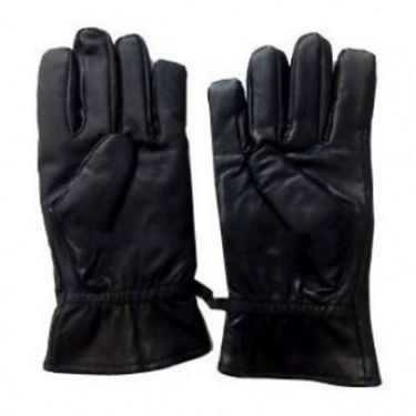 Winter driving leather gloves