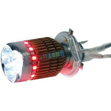 HRU H4 LED Flasher Headlight Motorbike LED Bulb