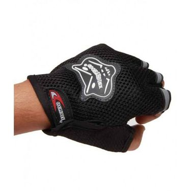 Knighthood Bike Riding Gloves Half (Black)