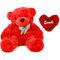 5 Feet Teddy Bear with Heart Shape Pillow - Red