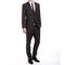 Pack of 2 Vimal Suit Length (Coat + Trouser) For Men - Black & Grey