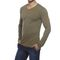 Delhi Seven Full Sleeves Round Neck Cotton T Shirt For Men - Olive