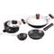 Hawkins Futura 6pcs Hard Anodized Cookware Set - Black