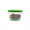 Cutting EDGE Veggie Fresh Refrigerator Storage 2000ml Container Set of 6 With Special Freshness Trays Green