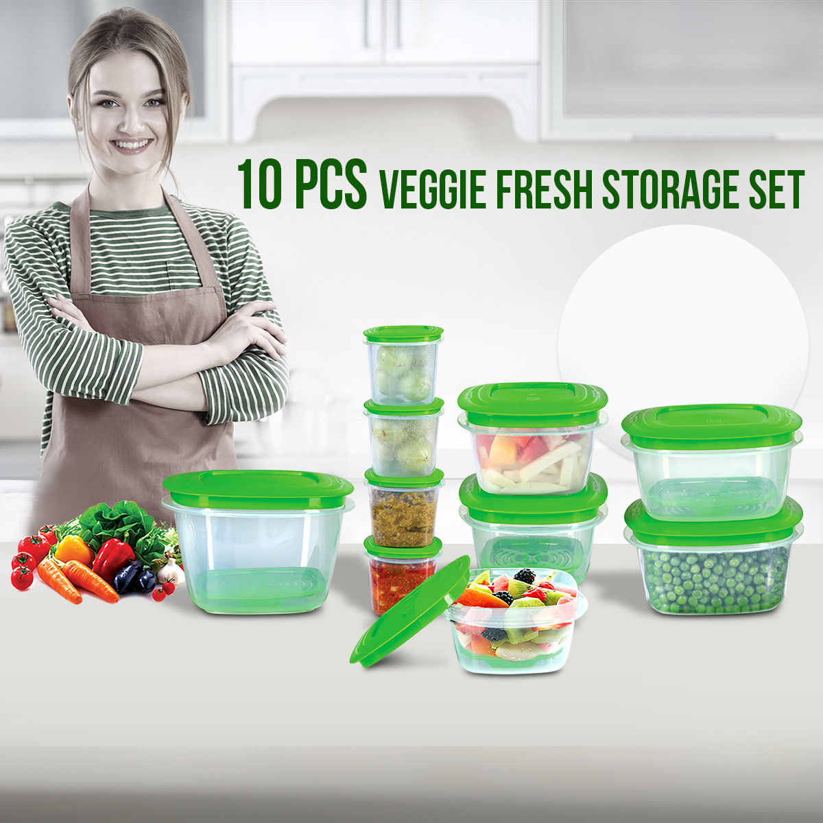 Buy 10 Pcs Veggie Fresh Storage Set Online At Best Price In India On