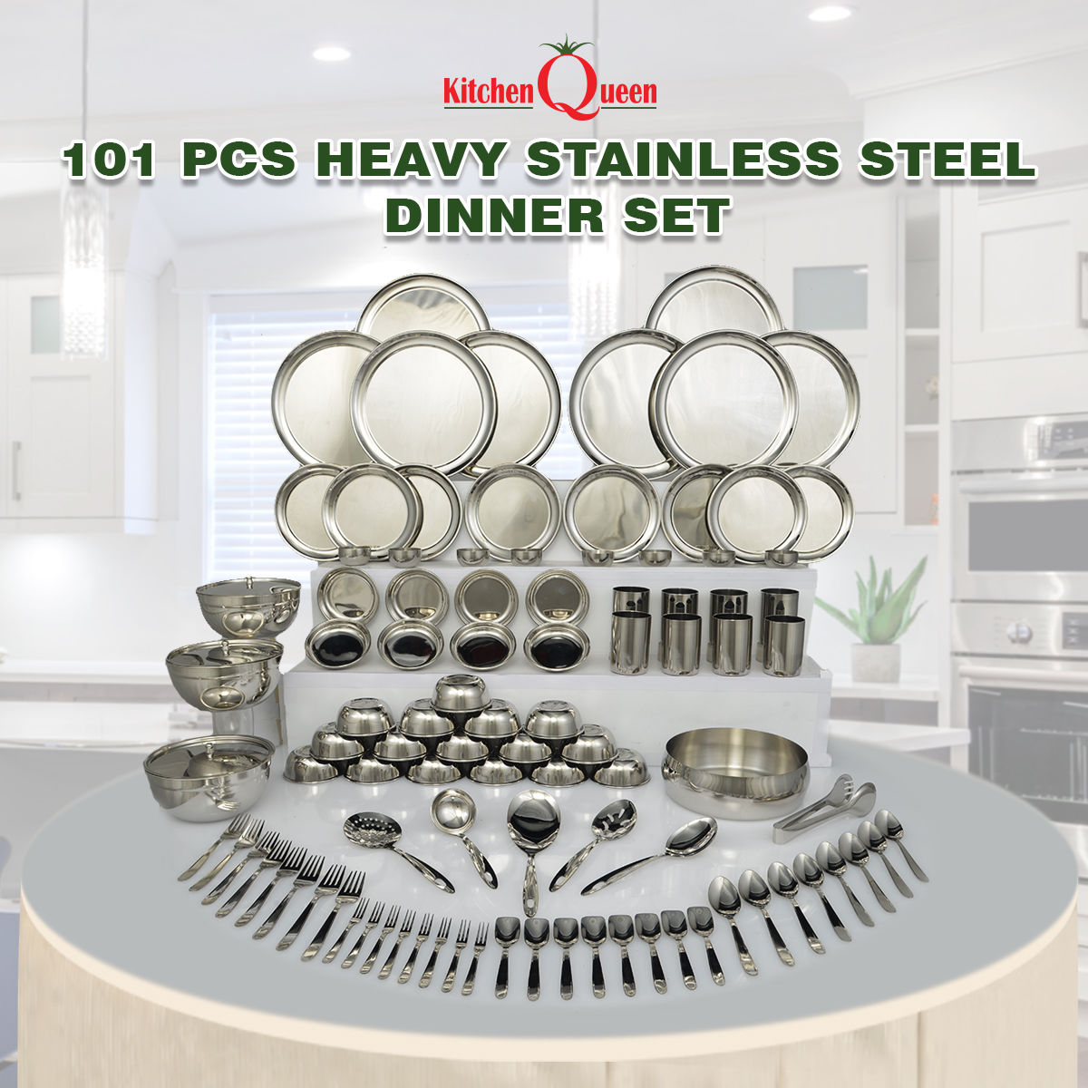 Buy 101 Pcs Heavy Stainless Steel Dinner Set Online At Best Price In