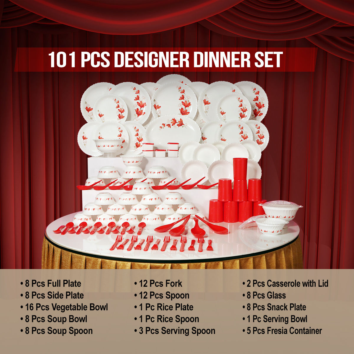 Buy 101 Pcs Designer Dinner Set Online At Best Price In India On