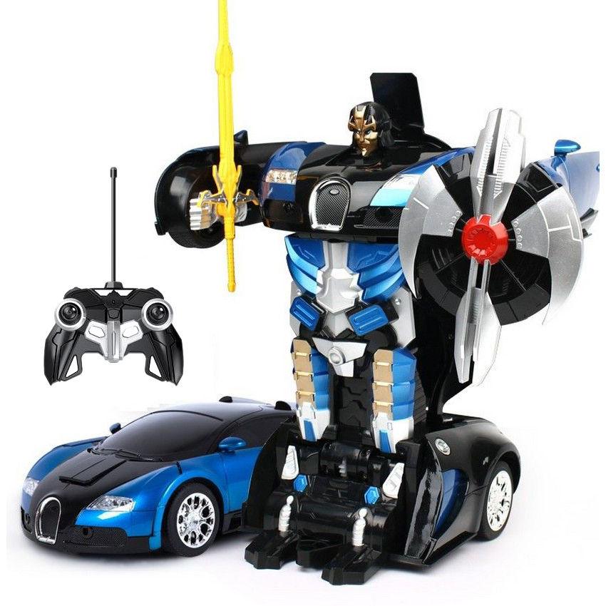 Buy 2 in1 Remote Control Robot cum Buggati Toy Car