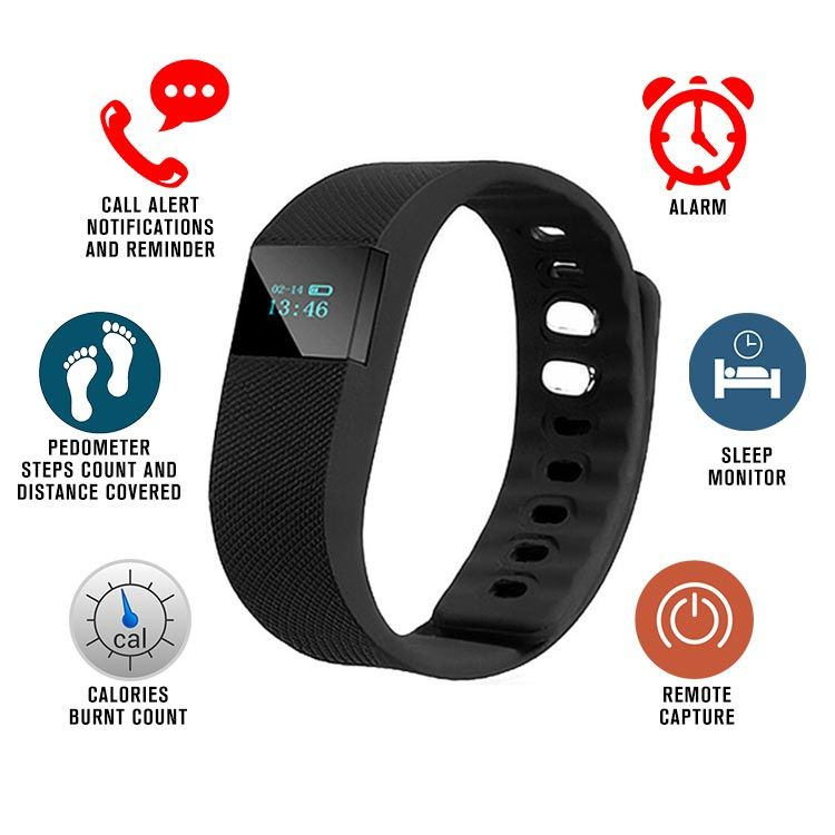 Fitness Bands Compatible With Iphone: Buy Vizio Bluetooth Wrist Smart Fitness Band