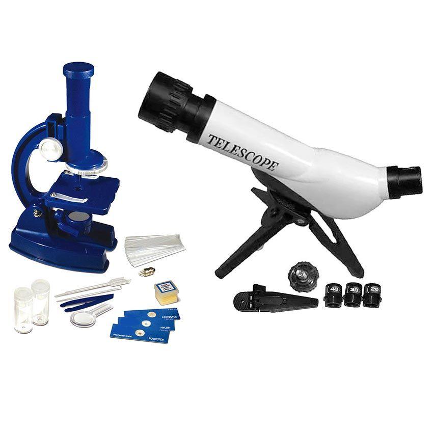 Buy Kids Educational Combo Of Telescope & Microscope DIY ...
