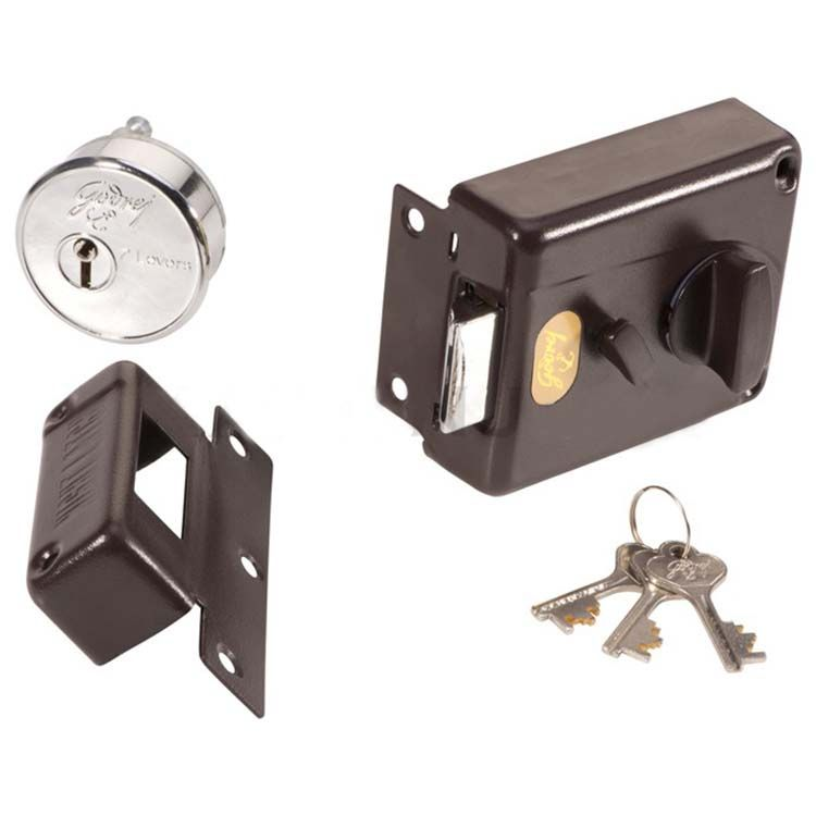 Buy Godrej 7 Lever Night Latch Inside Opening Lock Brown