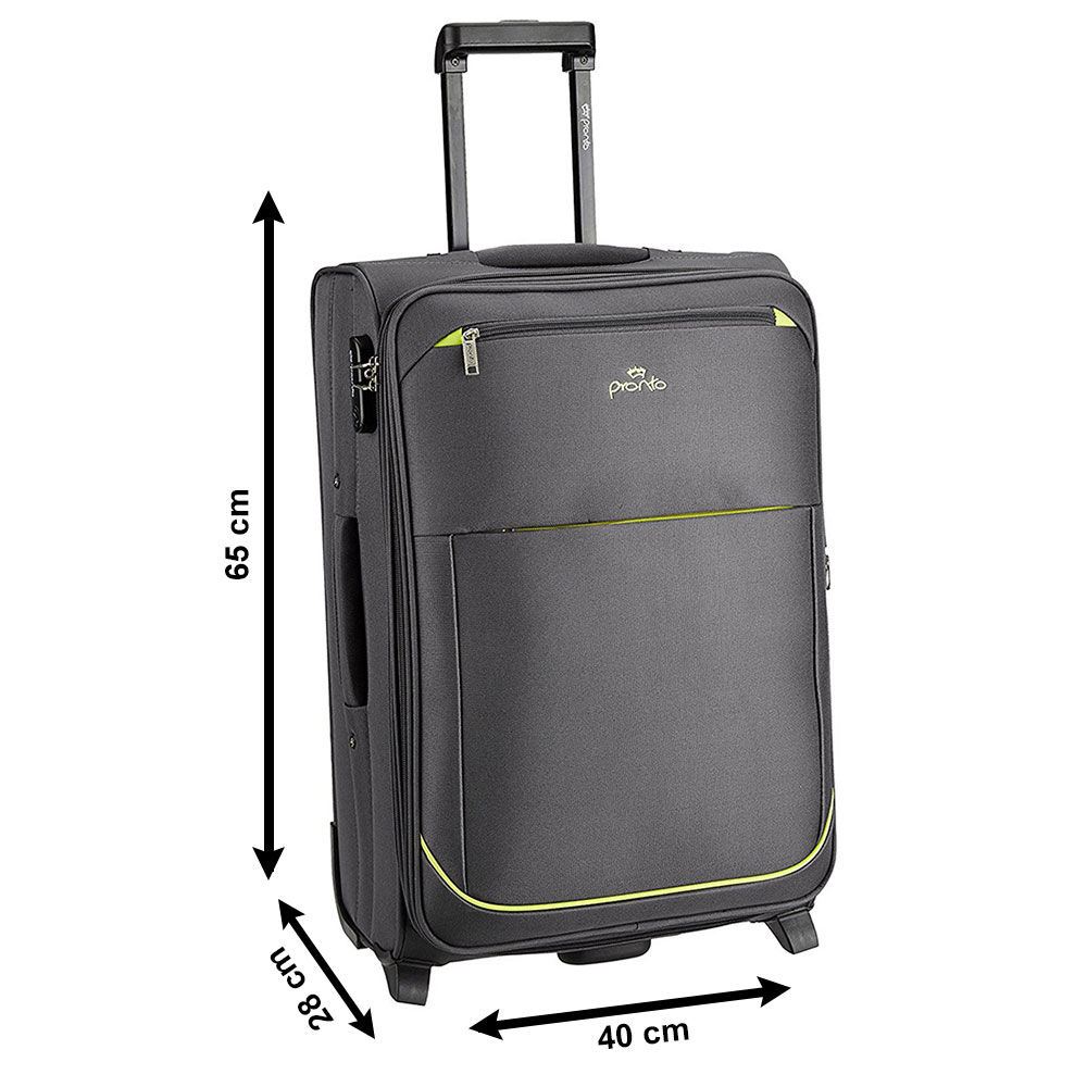 buy pronto polyester grey 65 cm trolley bag pps06 online at best price in india on. Black Bedroom Furniture Sets. Home Design Ideas