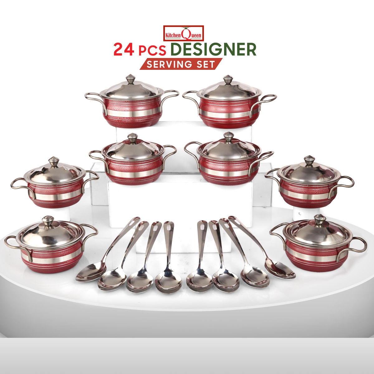 Buy 24 Pcs Designer Serving Set Online At Best Price In India On