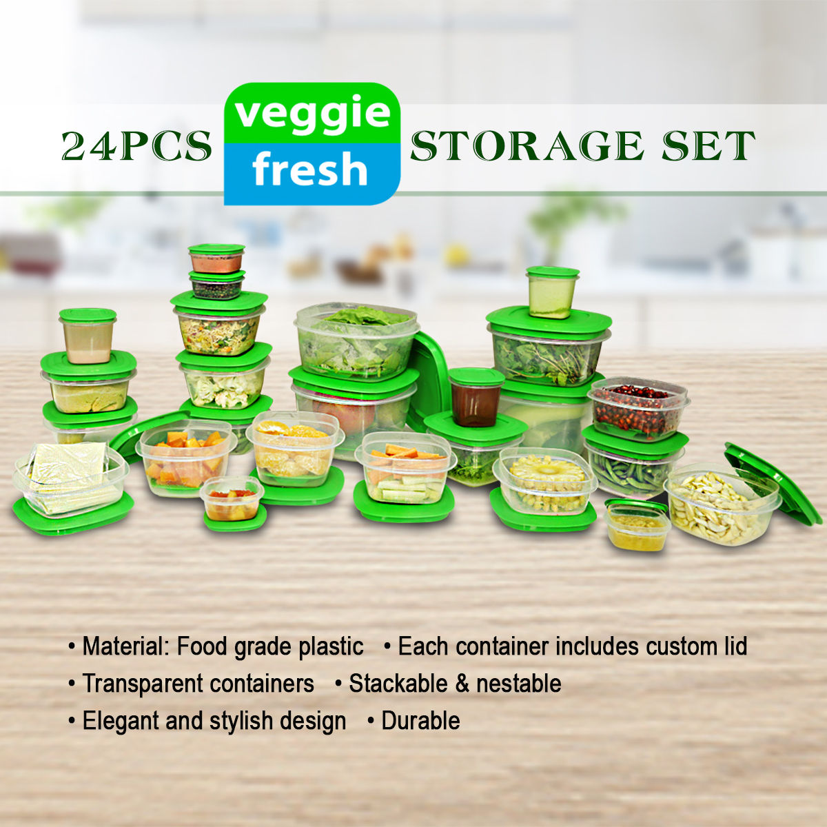 Buy 24 Pcs Veggie Fresh Storage Set Online At Best Price In India On