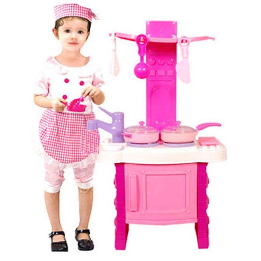 Kitchen Set Toys Online India: Buy Kids Kitchen Playset -Pink Online At Best Price In