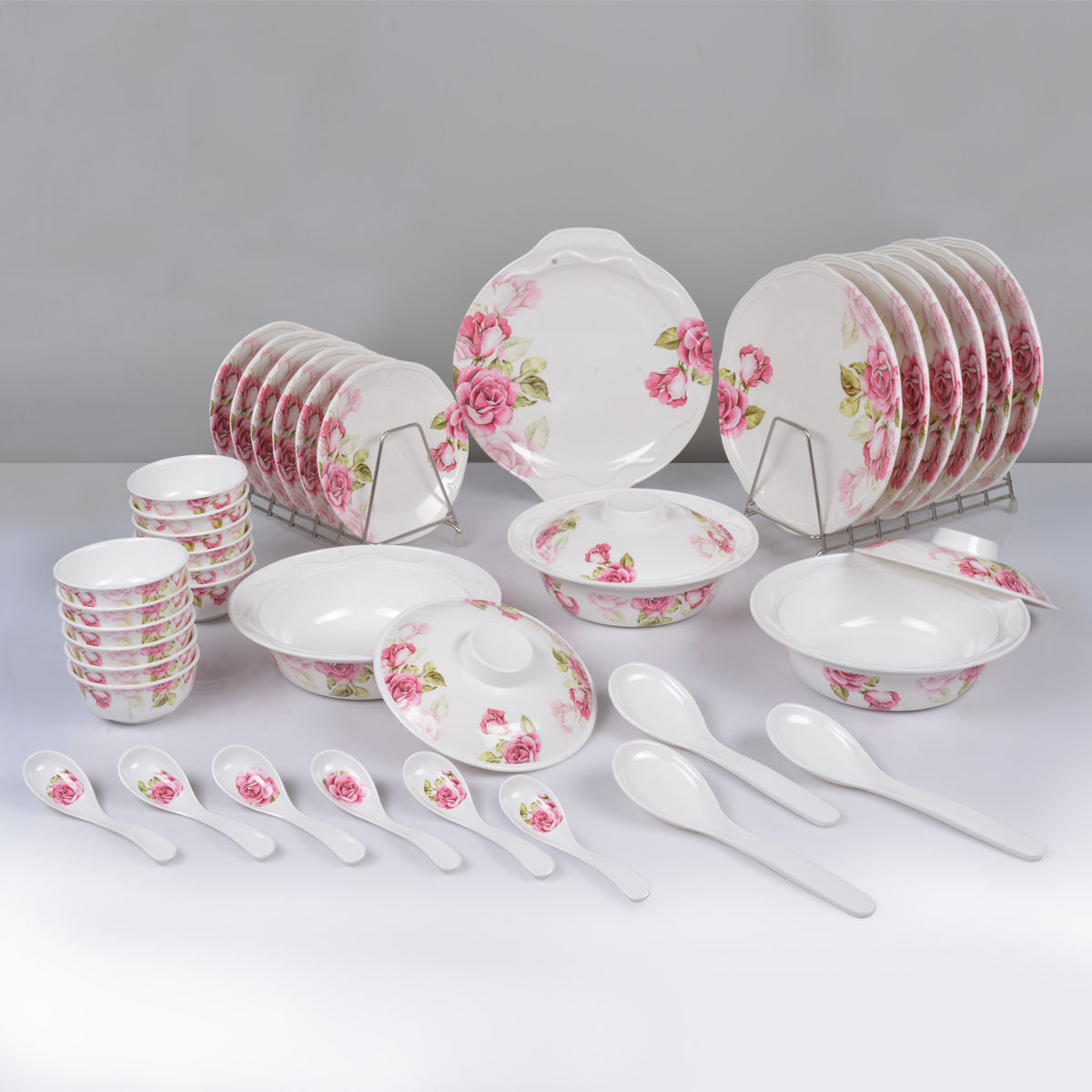 Buy 40 Pcs Floral Print Melamine Dinner Set Online At Best Price In