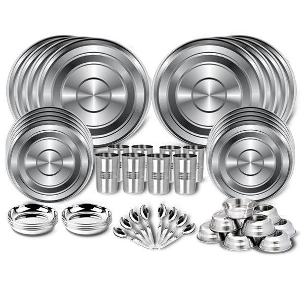 Buy 48 Pcs Stainless Steel Dinner Set Online At Best Price In India
