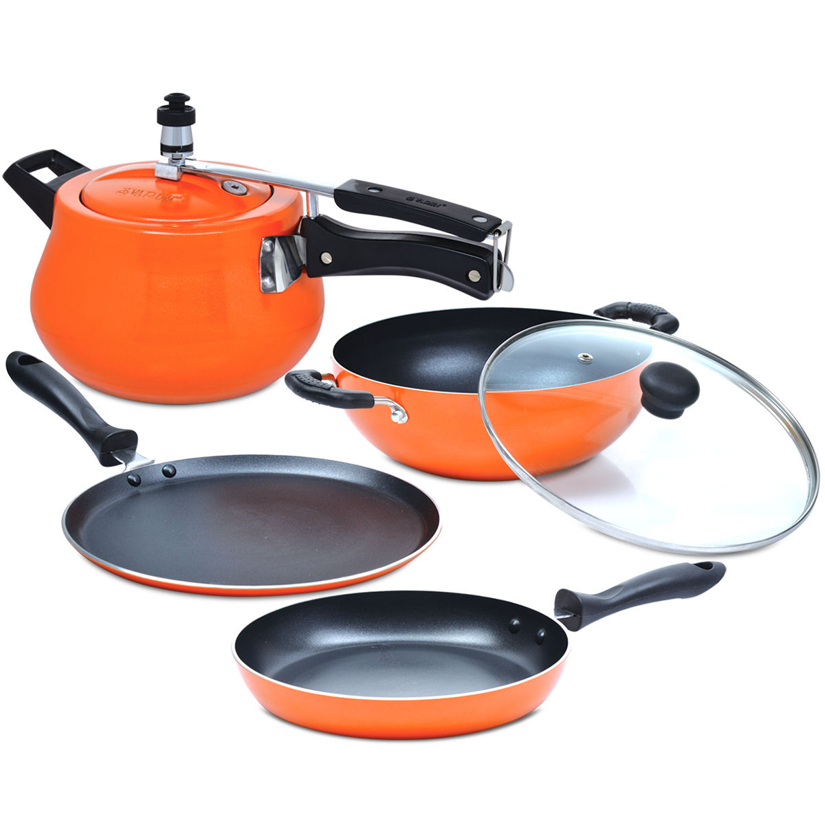 Buy 5 Pcs Induction Based Non Stick Cookware Set Online At Best